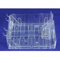 "Buy cheap 3 Acrylic Pegboard Slatwall 5"" - 8"" Wide Expandable Pusher Tray Bin Rack Clear from Wholesalers"