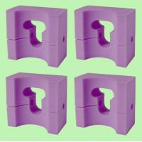 Buy cheap 4 MedLine Adult-Size Foam Supportive HEAD POSITIONER 9x8x4.5 / NON081144 from wholesalers