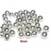 Quality Metallic Acrylic Beads8mm, Silver metallic CCB Acrylic Beads, Sold by 500/Pcs Bag. wholesale