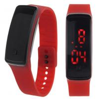 Buy cheap Silicone or plastic watches New Products and custom led silicon bracelet wrist watch from Wholesalers