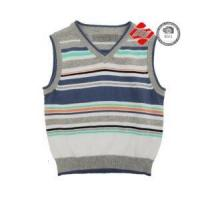 Buy cheap Boy's V-neck knitted colourful stripe sweater with 12 gauge from Wholesalers