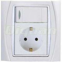 Buy cheap Euro Socket With 1 Switch from Wholesalers