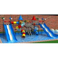 Water Park Slide Rubber Coating Platform and Stair