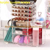 Buy cheap 40 Holes Rotating Acrylic Makeup Organzier Lipstick Holder from wholesalers