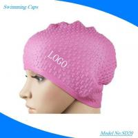 Promotional Water Drop Swimming Hat 100% Silicone Material Swim Caps for Water Sports