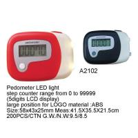 Buy cheap Pedometer with LED light Item No:A2102 from wholesalers