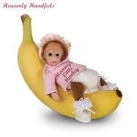 Quality Heavenly Handfuls Li'l Monkey Hugs Collectible Baby Monkey Doll CollectionModel # CT913327 for sale