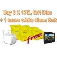 Buy cheap Offers with Free Gifts 6x 175 Litre Grit Bins and 1 Tonne White Rock Salt with Free Gift from Wholesalers
