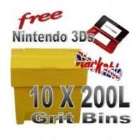 Buy cheap Offers with Free Gifts 10x 200 Litre Grit Bins with Free Gift from Wholesalers