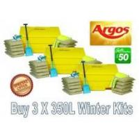 Buy cheap Offers with Free Gifts 3x 350 Litre Grit Bin Winter Pack with Free Gift from Wholesalers