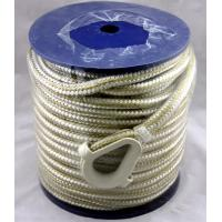 "Buy cheap Double Braid 3/8"" gold/white nylon mooring rope in plastic reel from Wholesalers"