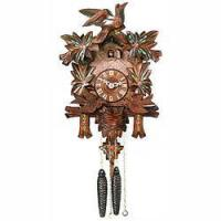 Buy cheap Moving Birds Feed Nest w/ Painted Flowers 1-Day Cuckoo Clock from Wholesalers