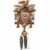 Buy cheap Five Leaves One Bird w/ Painted Roses 1-Day Cuckoo Clock from Wholesalers