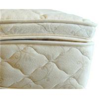 Buy cheap Beds and Bedding Natural Latex Mattress Topper Quilted with Organic Cotton and Wool from Wholesalers