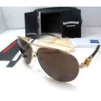 Buy cheap Chrome Hearts Sunglasses KUFANNWI In Gold With Black , coffee frame (GP) Suitable for men from Wholesalers