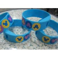 Buy cheap Four Color Printing Blue Silicone Wristband Digital Watches with Changeable Battery from Wholesalers