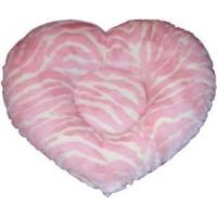 Buy cheap Pink & White Hi-Lo Zebra Heart Shaped Pet Bed from Wholesalers