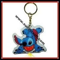 China SLIXJ60 pvc led light keychain&key chain& keyring on sale