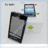 Buy cheap A5 3.5inch Android 2.2 google phone TV WIFI GPS dual sim card Quadband phone from wholesalers