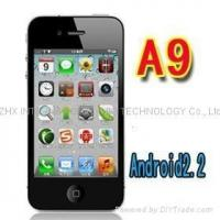 Buy cheap iphone 4 copy A9 Google android 2.2 GPS wifi 3.5 Super Amoled mobile phone from Wholesalers