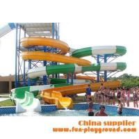 Buy cheap fiberglass spiral adult slides aqua theme park tubes equipment amusement rides price for sale from Wholesalers