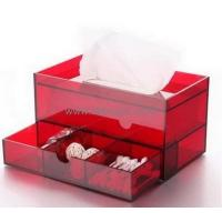 Buy cheap Top quality acrylic facial tissue box with drawer design BTB-010 from wholesalers
