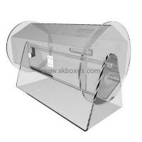 Buy cheap Custom transparent round acrylic plastic ballot box BBS-006 from wholesalers