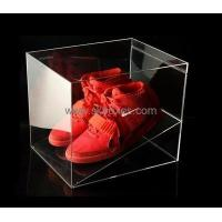 Buy cheap Factory custom transparent acrylic shoe box BSB-005 from Wholesalers