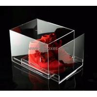 Buy cheap Customized acrylic shoe box with drawer BSB-004 from Wholesalers