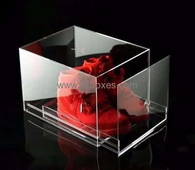 Quality Customized acrylic shoe box with drawer BSB-004 for sale