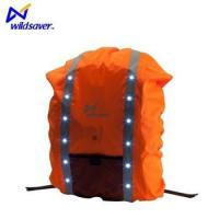 China Reflective safety backpack cover rain waterproof LED bag on sale
