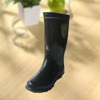 Buy cheap High quality black rubber safety working knee boot from Wholesalers