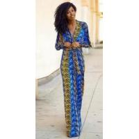 Buy cheap Fashion Women's V-Neck Long Sleeve Maxi Dress from Wholesalers
