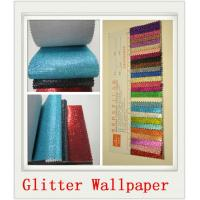 Buy cheap Custom White Glitter PU Wallpapers from Wholesalers