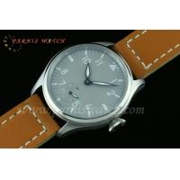 Buy cheap 47mm Parnis 6498 Hand Winding Grey Dial White Number Watch from Wholesalers