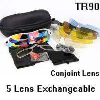 Buy cheap OK0093 White Red Outdoor Sports Tactical Cycling Glasses 5 Polycarbonate Lenses Sunglasses Goggles from Wholesalers
