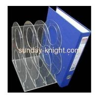 Buy cheap acrylic clear brochure file holder with two dividers BHK-001 from Wholesalers