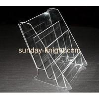 Buy cheap Acrylic brochure holder with two dividers BHK-006 from Wholesalers