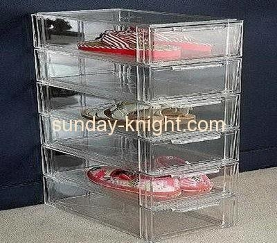 Quality Acrylic shoe display case with 6 drawers DBK-019 for sale
