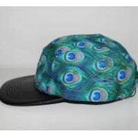 Buy cheap 2016 fashion blue peacock feathers cotton and polyester camper cap from Wholesalers