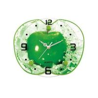 Buy cheap Green Apple Shaped Advertising Clock with White Movement GA0018B from wholesalers