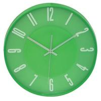 Buy cheap 12 inch Round Promotional Plastic Wall Clock Green PS0033C from wholesalers