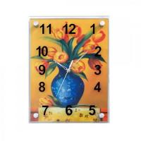 Buy cheap Classic Flower Oil Painting Glass Wall Clock GA0020 from wholesalers