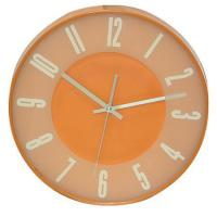 Buy cheap 12 inch Round Promotional Plastic Wall Clock Orange PS0033D from wholesalers