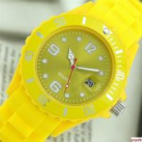 Fashion silicone bracelet watch with date