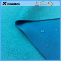 China waterproof fabric 75D interlock fabric bonded with tpu film and 100D/144F polar fleece for jacket on sale