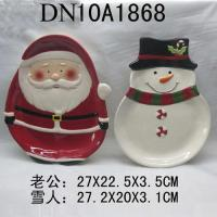 Christmas Gift Ceramic plate with snowman