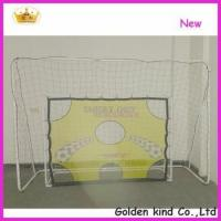 Buy cheap Factory sale inflatable soccer goal post with shooting hole from Wholesalers