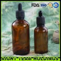 Buy cheap New Product 60ml 120ml amber glass oil bottle with childproof tamper evident cap from Wholesalers