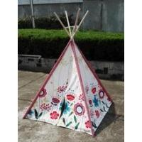 Buy cheap wood pole flower cotton canvas kids teepee tent with EN71 from Wholesalers